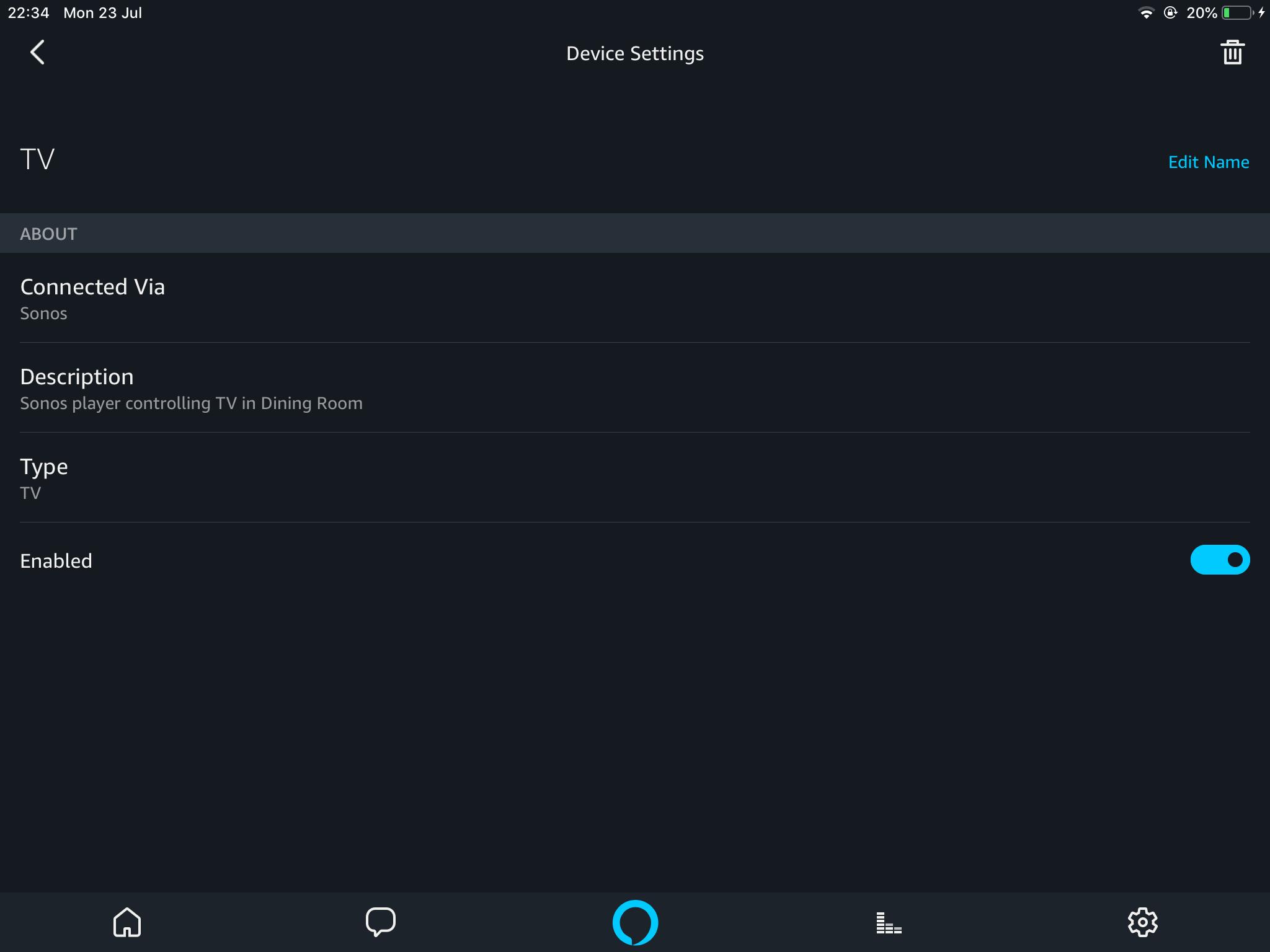 Beam Alexa can't turn off my Samsung series 8 smart tv