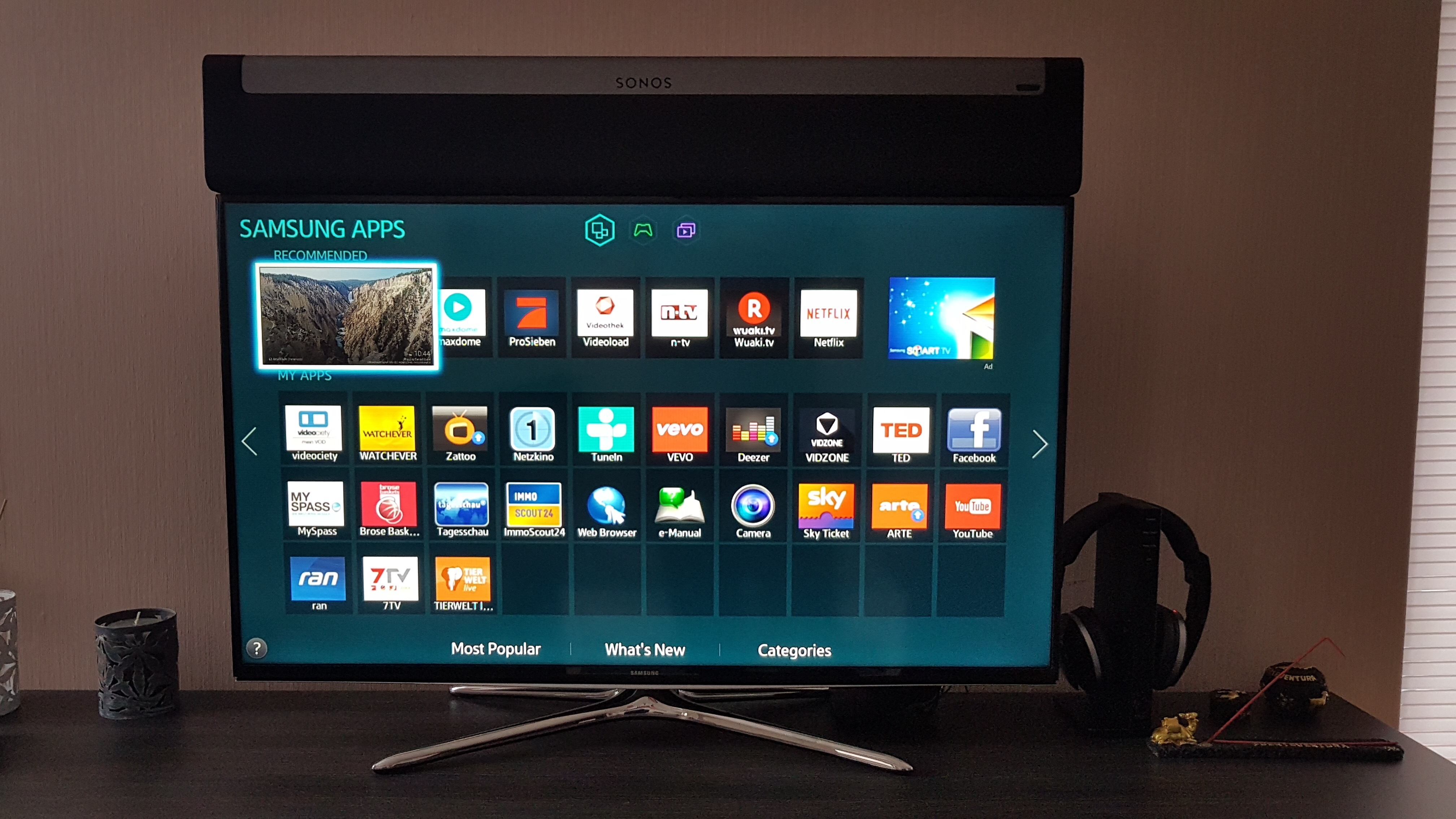 Advice on Playbar placement - can it go above TV? | Sonos