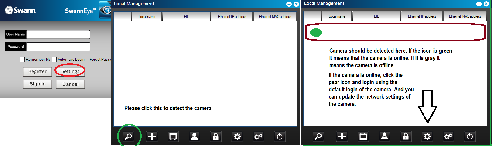 Camera keep saying offline | Swann Support Community