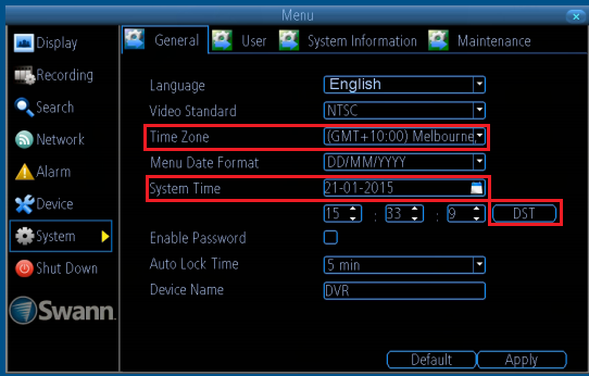 Dvr 4400 losing time and date   Swann Support Community