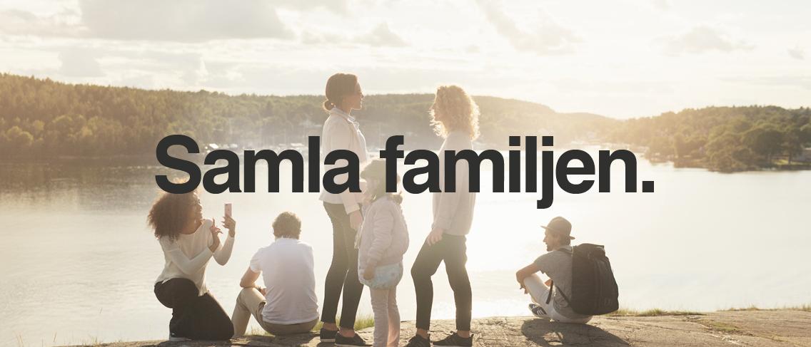Samla familjen hos Tre