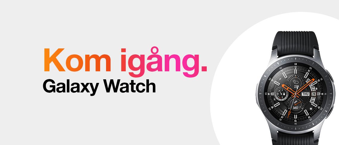 Kom igång med din Galaxy Watch