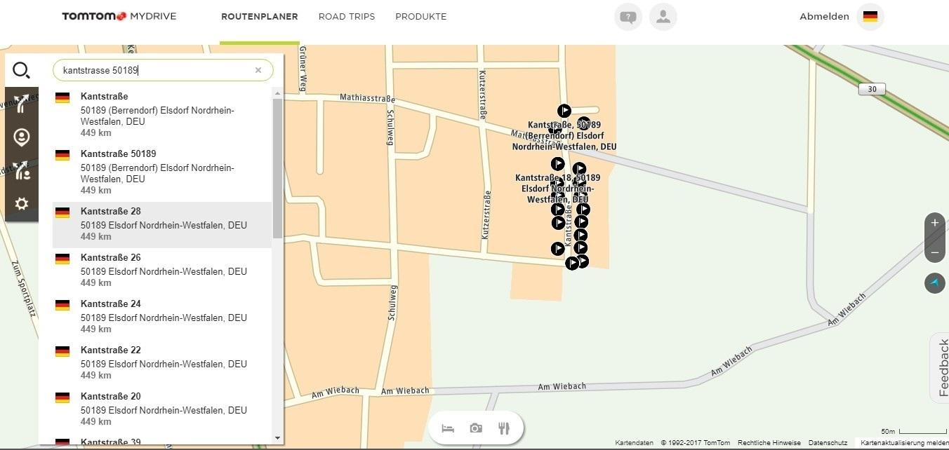 Karte findet Adresse nicht richtig | TomTom Forum and Community
