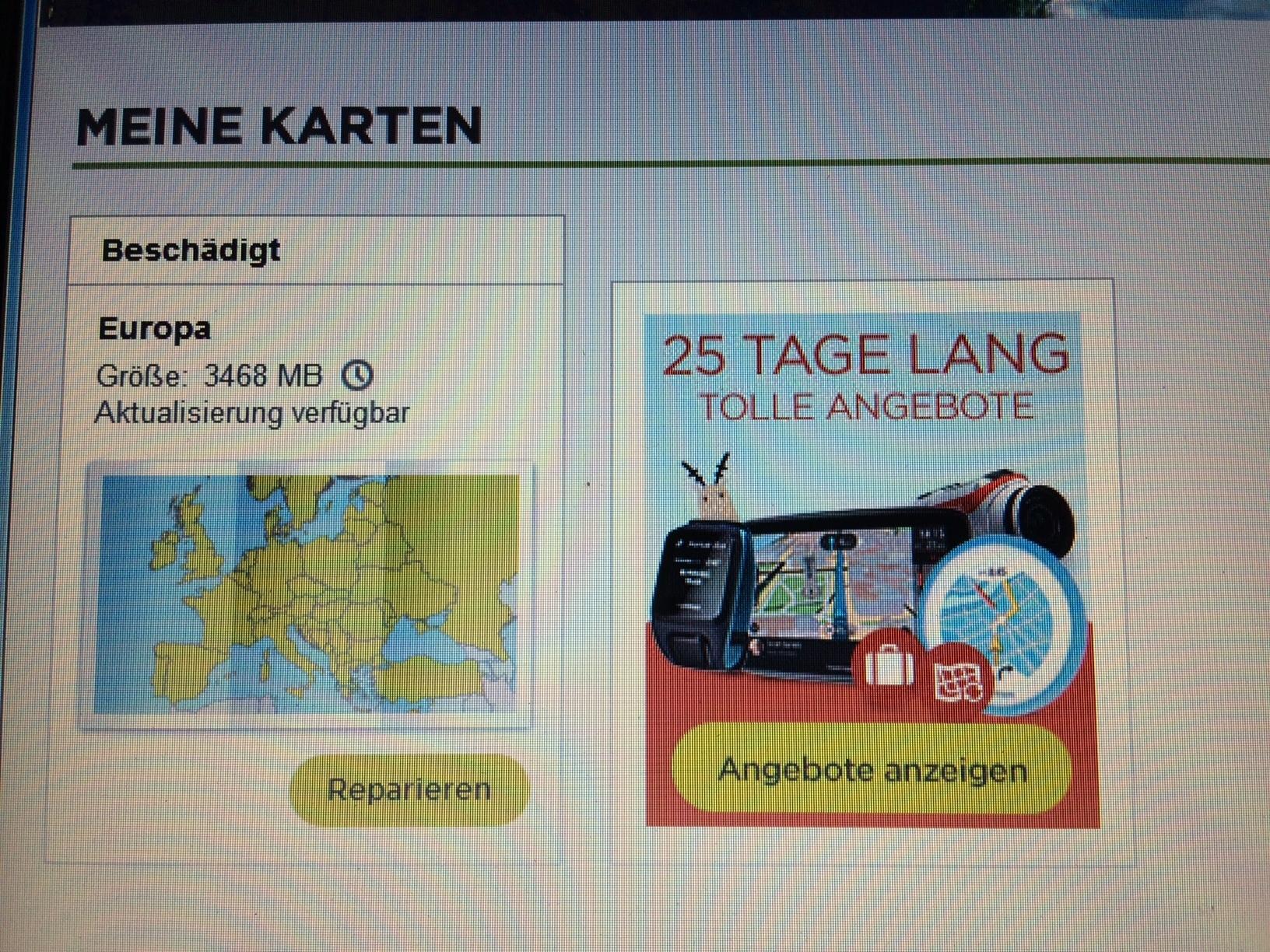 tomtom karte beschädigt Start 25 M Europa Karte updaten fehlgeschlagen (Bitte Hilfe
