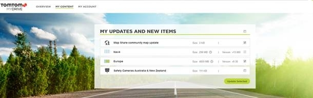 tomtom one problems updating