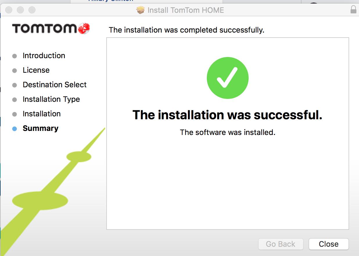 Updating tomtom on mac