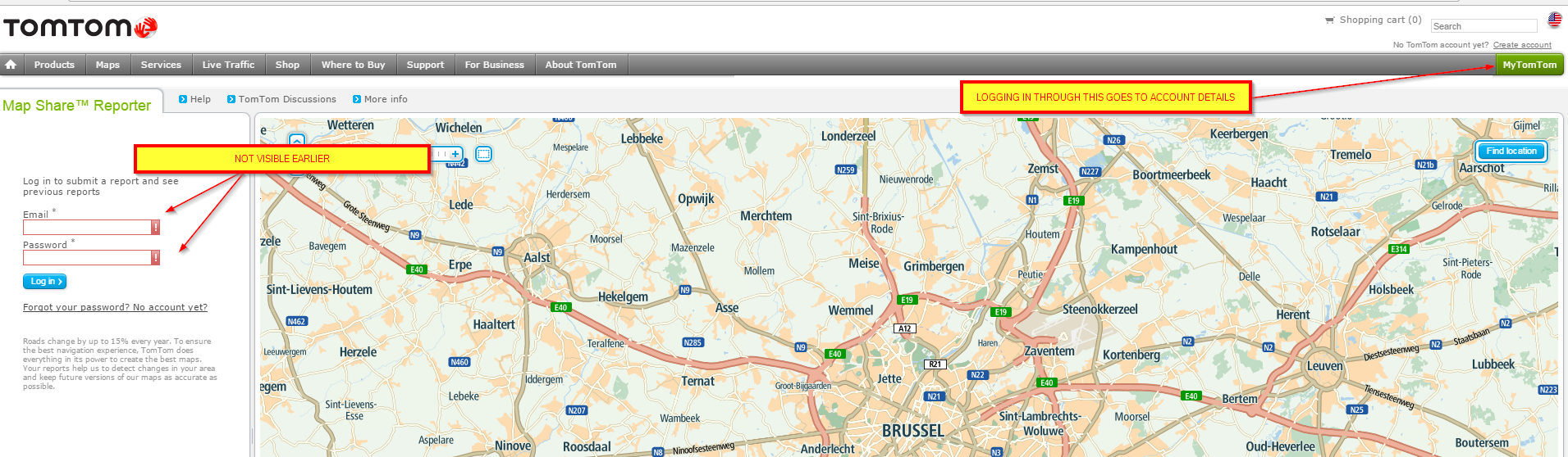 mapshare tools not working latest chrome firefox or IE logging