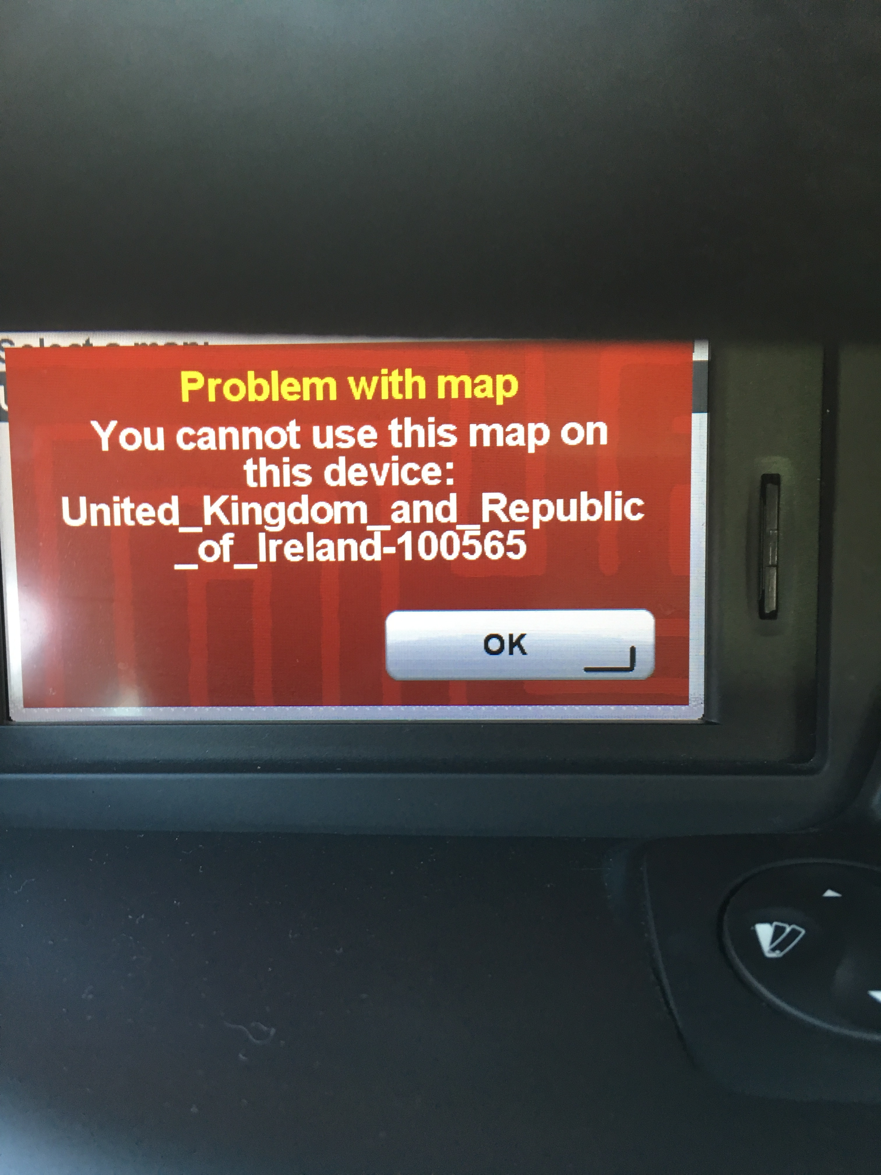 renault scenic 2012 error message you cannot user the map on this rh en discussions tomtom com Online User Guide Online User Guide