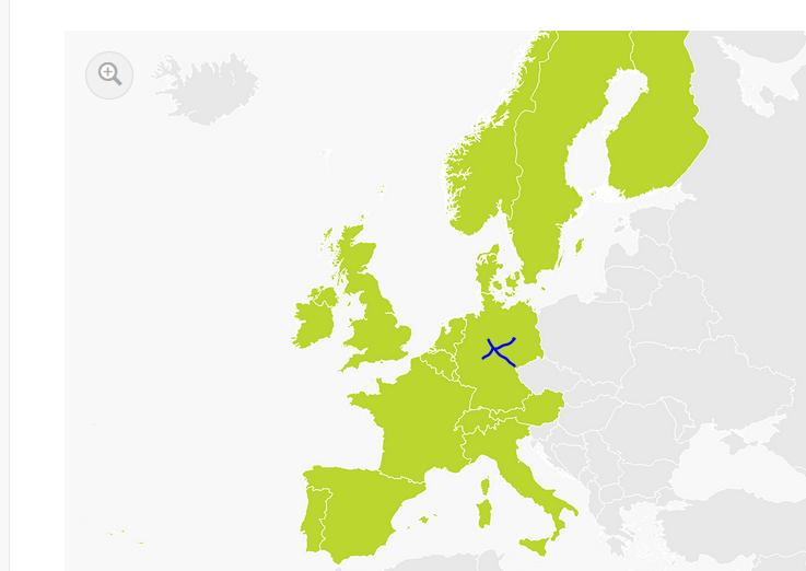 carte europe occidentale et centrale tomtom