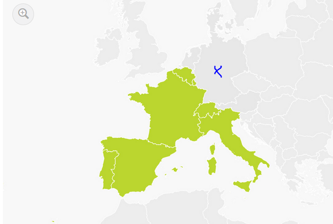carte europe zone sud tomtom