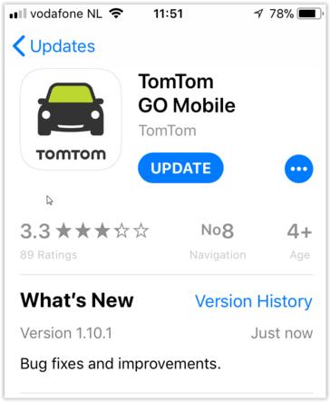 Sortie nouvelle mise à jour GO Mobile (Iphone) Version 1.10.1