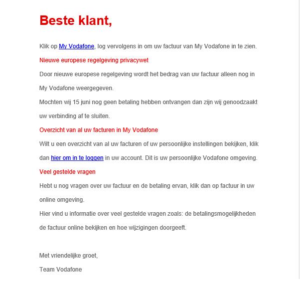 Mobiel - SPAM/Phishing | Vodafone Community